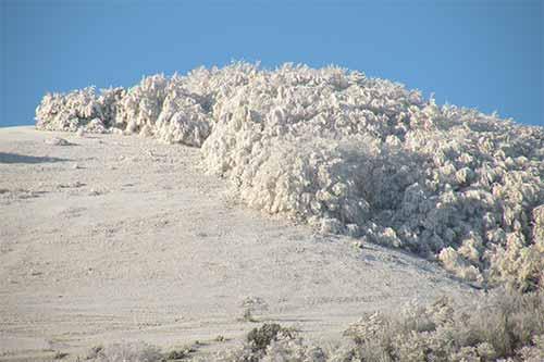 Scenari invernali sul monte Catria.